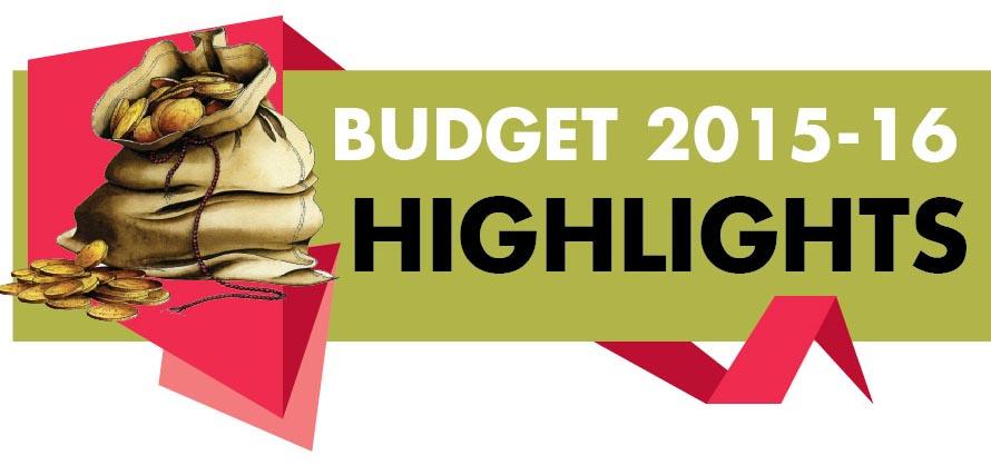 Highlights of Budget 2015