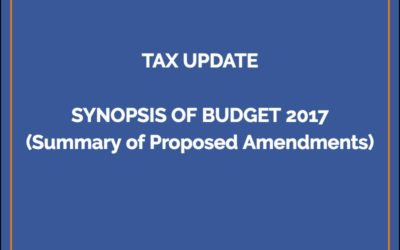 Summary of Budget 2017