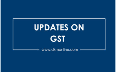 Recent updates on Goods and Service Tax (GST)